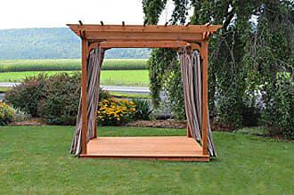 A & L Furniture A & L Furniture 707C-OAK Stain Pergola with Deck & Swing Hangers, Oak Stain