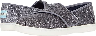 Toms Girls TOMS-AW19-3029 Loafer Flats Glitter Scintillanti In Peltro