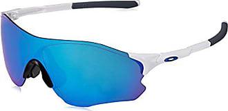 Oakley Mens Evzero Path (a) Non-Polarized Iridium Rectangular Sunglasses, Polished White, 38 mm