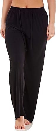 JD Williams Ladies Women Trouser Elasticated Wide Leg High Waist ITY Regular Pants Black Red