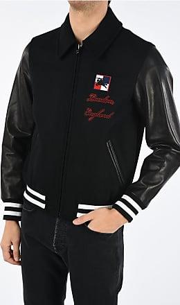 Burberry Bomber STOCKBRIDGE with Leather Sleeve size 50