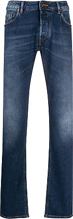 Hand Picked Calça jeans reta Ravello cintura média - Azul