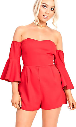 Ikrush Andrea Playsuit RED UK 12