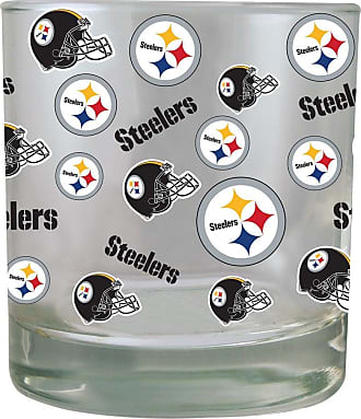 The Memory Company Green Bay Packers All-Over Print Rocks Glass 10oz