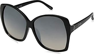 Jessica Simpson Womens J5629 Ox Non-Polarized Iridium Round Sunglasses Black 70 mm