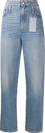 Department 5 Calça jeans reta cintura alta - Azul