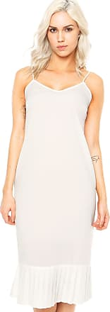Finery Vestido Finery London Harton Pleated Hem Slip Dress Branco
