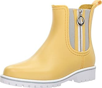 Bernardo Womens Zip Rain Boot, Misted Yellow Rubber, 10M M US