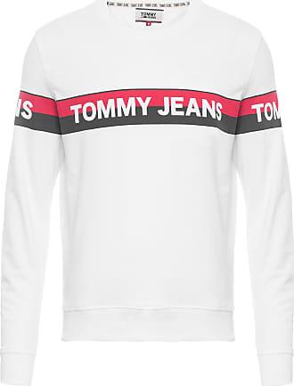 Tommy Jeans BLUSA MASCULINA BAND LOGO CREW - BRANCO