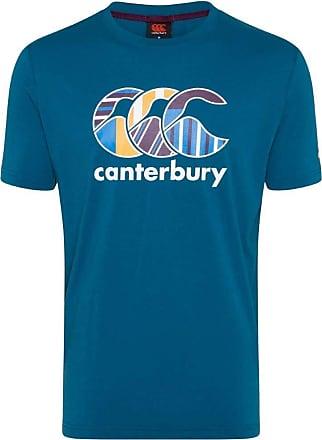 SMALL Mens CANTERBURY CCC Logo Cotton T Shirt Surf The Web Blue 18