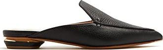 Nicholas Kirkwood Beya Grained-leather Backless Loafers - Womens - Black