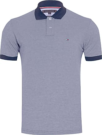 Tommy Hilfiger POLO MASCULINA ESSENTIAL OXFORD - CINZA