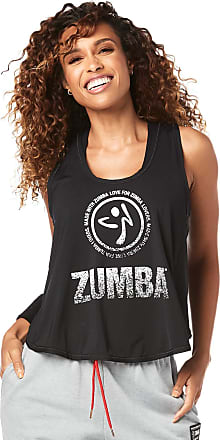 Zumba Workout Cross Back Sexy Tank Tops for Women Graphic Print Open Back Tops, Basic Bold Black, L