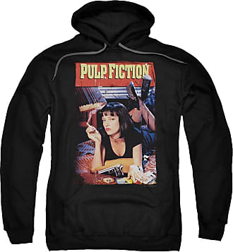 Popfunk Pulp Fiction Poster Unisex Adult Pull-Over Hoodie for Men and Women Black
