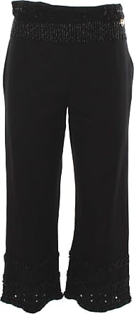 Twin-Set Twinset Womens Black Linen and Cotton Trousers - Black - UK 14
