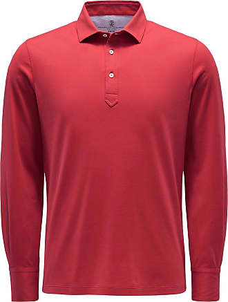 Brunello Cucinelli Longsleeve-Poloshirt rot bei BRAUN Hamburg