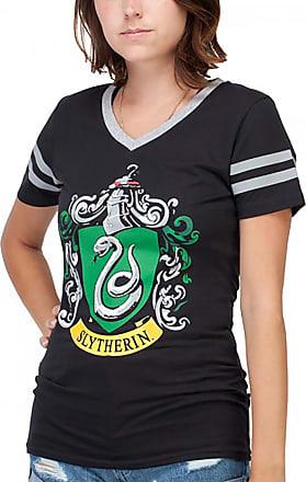 Harry Potter Slytherin Juniors V-Neck Tee Shirt X-Large Black