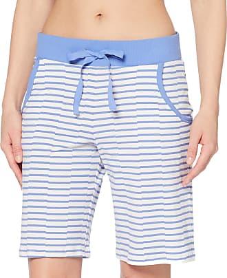 Schiesser Womens Mix & Relax Jerseybermuda Pyjama Bottoms, Blue (Atlantic Blue 899), UK 12