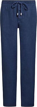 Vilebrequin Pacha Leinen-Hose (Blau) - Herren
