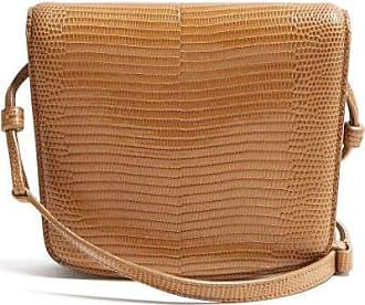 The Row Julien Lizard-skin Shoulder Bag - Womens - Light Brown