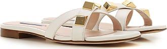 Stuart Weitzman Sandals for Women On Sale, White, Leather, 2017, 10 9