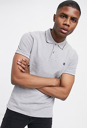 Timberland pique tipped polo shirt-Grey