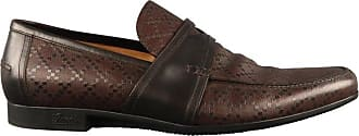 266affb1296 Gucci Mens Gucci Size 13 Brown Textured Leather Slip On Loafers