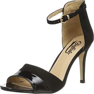 3af45f200cfb0b Buffalo Shoes Damen 312339 SY Suede PATENT PU Knöchelriemchen