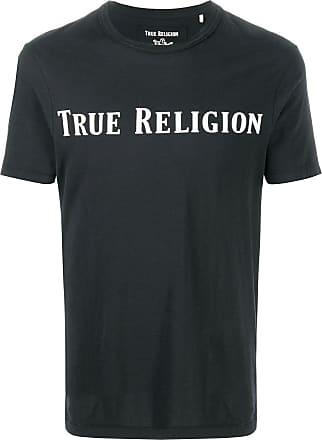 True Religion Camiseta com estampa de logo - Preto