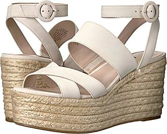 Nine West Womens KUSHALA Wedge Sandal, Off Off White Nubuck, 8.5 Medium US