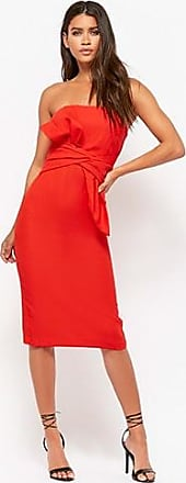 Forever 21 Forever 21 Strapless Bow Sheath Prom Dress Red
