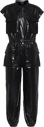 Norma Kamali Faux-leather jumpsuit