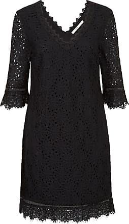 Steps Kanten jurk zwart
