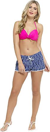 Lora Dora Womens High Waisted Beach Shorts Surf 12-14 Navy/White