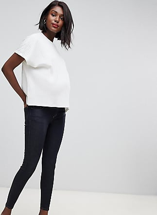 b0d99d250fd92 Asos Maternity ASOS DESIGN Materntiy Ridley high waisted skinny jeans in  clean indigo wash with under
