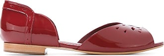 Sarah Chofakian patent leather ballerinas - Di colore rosso