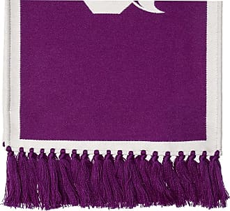 Palm Angels Logo Scarf Mens Purple