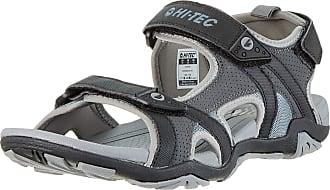 Hi-Tec Mens Crater Open Toe Sandals Charcoal/Cool Grey 51, 10 (44 EU)