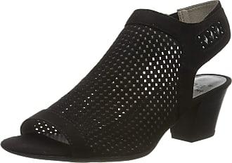 Jana Womens 8-8-28306-22 Ankle Strap Sandals, Black (Black 001), 6 UK