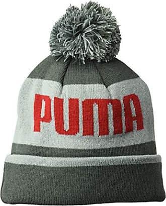 cacdae1b404 Puma Mens Kids Evercat Block Cuff Pom Youth Beanie and Glove Set