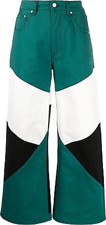 Kirin colour-block trousers - Green