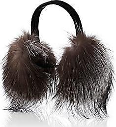 Barneys New York Womens Fur Earmuffs - Gray