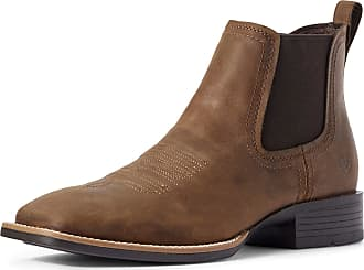 Ariat Mens Booker Ultra Western Boots in Distressed Tan Leather, D Medium Width, Size 10.5, by Ariat