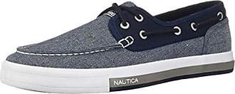 Nautica Mens Spinnaker Boat Shoe, Blue Knit/Navy, 7.5 Medium US