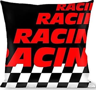 Buckle Down Pillow Decorative Throw Racing Checker Black White Red