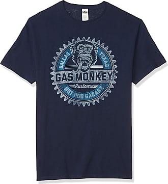 Gas Monkey Garage mensGMON0073-10001001Geared Up T-Shirt T-Shirt - Blue - Medium