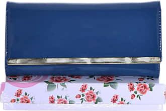 Girly HandBags Girly HandBags Retro Ladies Elegant Patent Faux Leather Purse Frame Wallet Summer Colours Gift Boxed - Dark Blue