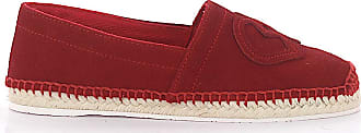 Dsquared2 Flat shoes calfskin suede Logo red