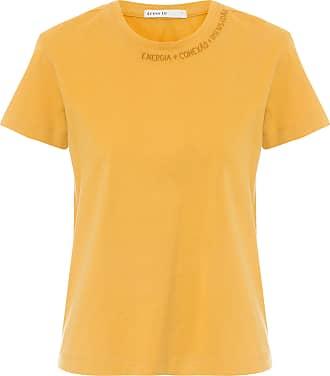 Dress To Blusa T-shirt Bordada - Amarelo