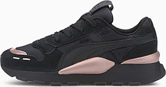 Puma RS 2.0 Mono Metal Womens Trainers, Black/Rose Gold, size 3.5, Shoes